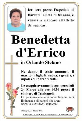 annuncio DERRICO BENEDETTA