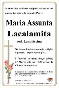 annuncio Lacalamita Maria