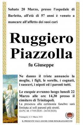 Annuncio Piazzolla Ruggiero