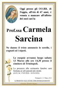 annuncio Sarcina Carmela