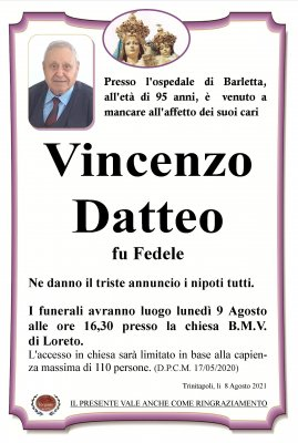 annuncio Datteo Vincenzo