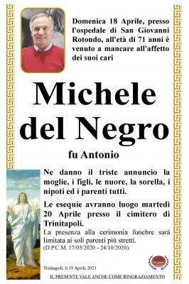Annuncio del Negro Michele
