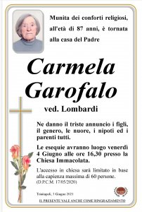 annuncio Garofalo Carmela