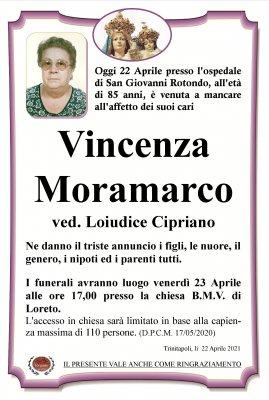 annuncio Moramarco Vincenza