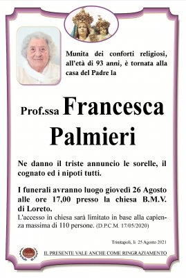 annuncio Palmieri Francesca
