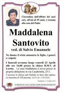 annuncio Santovito Maddalena