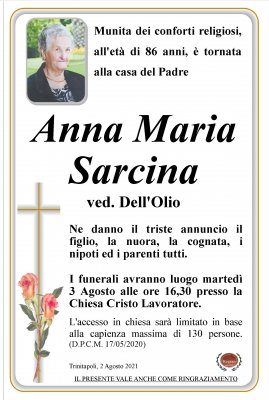 annuncio Sarcina Anna Maria